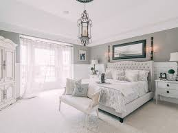 White Headboard Room Ideas Bedroom Antiques Beige Carpet Flooring Grey Interior Walls Tufted