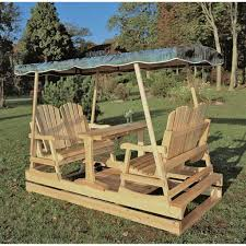 furniture mesmerizing outdoor solid wood porch glider with canopy