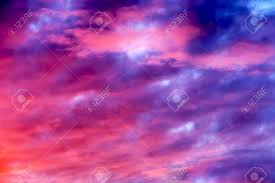 great sunset sky with clouds all possible shades of pink and