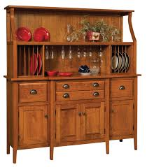 Craftsman Style Dining Room Furniture Stowell Hutch And Buffett Wine Glass Holder Plate Rack Solid