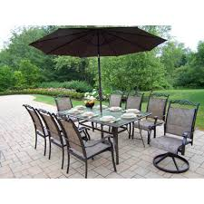 5 Pc Patio Dining Set - outdoor u0026 garden fabulous metal patio dining set with tufted