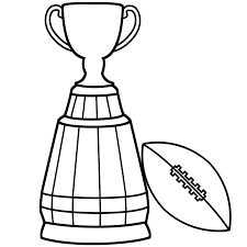 super bowl trophy with football coloring page super bowl