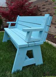 Plans To Build A Picnic Table Bench by Convertible Picnic Table And Bench Her Tool Belt