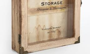 store rustic vintage wooden wall mount hanging hooks key box storage