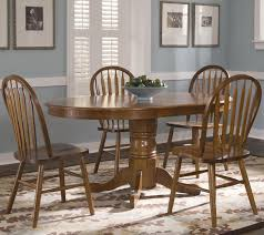 oval pedestal dinner table w 4 windsor side chairs by liberty