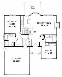 Ranch Style House Plans With Basement by Plan 1179 Ranch Style Small House Plan 2 Bedroom Split House