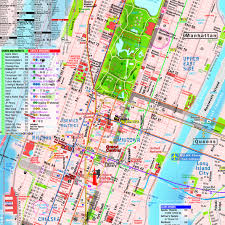 Map New York City by Terramaps Nyc Manhattan Street And Subway Map Waterproof Ar