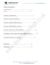 Dissertation New Business Realities in the Hospitality Sector Sample