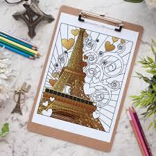 paris est l u0027amour free coloring page sarah renae clark