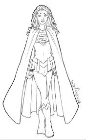 supergirl coloring pages 1599