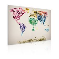 Colored World Map by Art Work The World Map Colored Smoke Trails World Maps