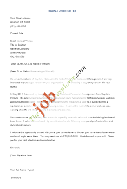 Best Resume For Hotel Management by Sample Cover Letter For Resume Berathen Com