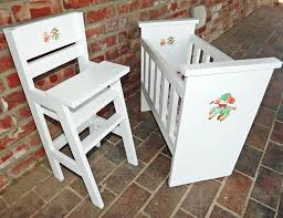 ana white olivia u0027s doll crib and high chair sets diy projects