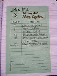 Math   Love  Algebra   INB Pages   Solving Equations Math   Love