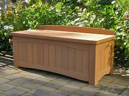 adorable outdoor storage bench how to build a diy outdoor storage