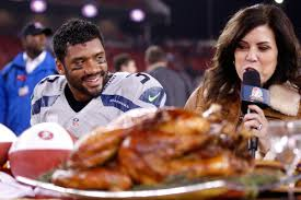 seahawks 49ers thanksgiving jerry rice is not pleased richard sherman russell wilson ate