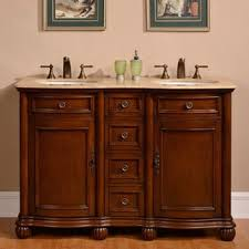 55 Inch Double Sink Bathroom Vanity by Silkroad Exclusive Wood And Crema 55 Inch Marble Double Bathroom
