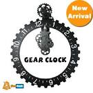 New Arrival Hot Sale Metal Skeleton Gear Clock Desk Clock Creative ...