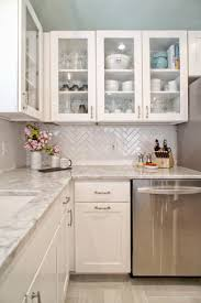 Glass Kitchen Tile Backsplash Ideas 25 Best Herringbone Backsplash Ideas On Pinterest Small Marble