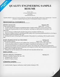 Sample Resume For Senior Manager by Senior Quality Engineer Sample Resume 21 16 Fields Related To