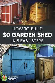Backyard Storage Building by How To Build A Practically Free Garden Storage Shed Plus 8