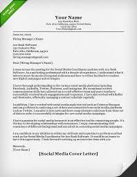 sample of cover letter for social media Resume Genius