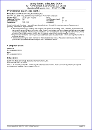 Resume Job Profile by Sample Travel Nursing Resume Free Template Bluepipes Blog