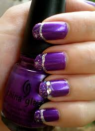 the purple nail designs shown here work well with all kinds of