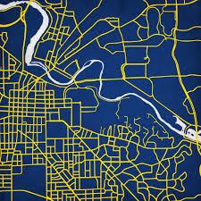 Map Of University Of Michigan by University Of Michigan City Prints Map Art Michigan Pinterest