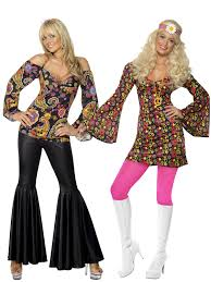 Flower Power Halloween Costume Ladies Hippy Fancy Dress Costume Hippie Womens 1970s 60 U0027s
