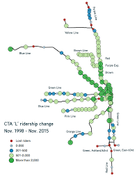 Chicago Line Map by Cta Reports Huge Ridership Gains On Blue Line Losses On South