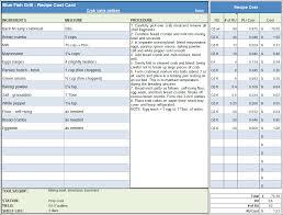 Project Cost Tracking Spreadsheet Menu U0026 Recipe Cost Spreadsheet Template
