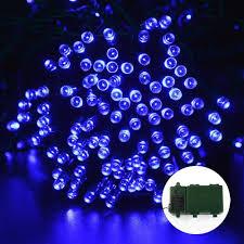 Blue Led String Lights by Ledertek Battery Operated Christmas Lights 200 Led Blue