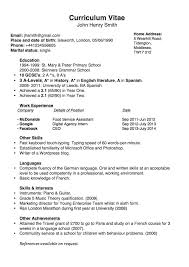 Combination Resume Format Simple Chronological Cv For The Uk Joblers