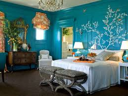 Comfortable Home Decor Blue Bedroom House Living Room Design
