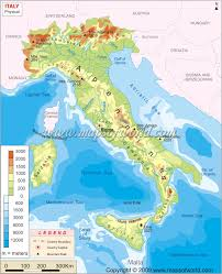 Map Of Italy Regions by Italy Physical Map Maps Pinterest Italy