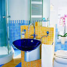 yellow and blue bathroom ideas