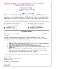 sample of special skills in resume skills for flight attendant resume free resume example and flight attendant sample resume cover letter for airline job pdf free d