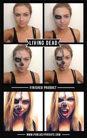 The 15 Best Sugar Skull Makeup Looks For Halloween Halloween by Best Halloween Costumes And Diy Makeup Living Dead Half Skeleton