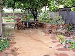 Backyard Cement Patio Ideas by Concrete Patio Ideas The Human Footprint