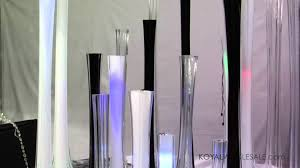 glass tower vases for wedding and feather centerpieces by koyal