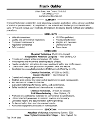 medical lab technician resume sample chemical technician resume chemical technicians resume examples government professional chemistry lab