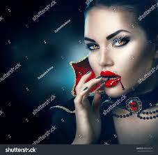 vampire halloween woman portrait beauty stock photo 488618974