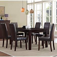 simpli home acadian 7 piece tanners brown dining set axcds7 aca br