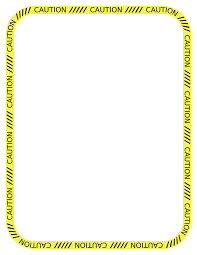 halloween page border caution clipart