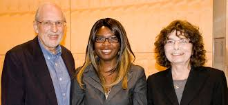 Chidinma Thompson with her PhD supervisors  professors Alastair Lucas  left  and Arlene Kwasniak University of Calgary