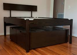 Platform Storage Bed Plans With Drawers by Queen Size Platform Bed With Drawers Large Size Of Bed Style Beds