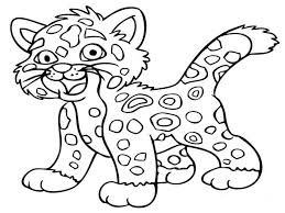 leopard halloween trick or treat pluto coloring page id 6