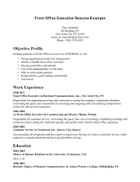 objective in resume examples medical office front desk resume sample objective profile include medical office front desk resume sample objective profile include work experience in executive cartland communications