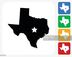 Texas Map Outline Texas Map Icon Flat Graphic Design Vector Art Getty Images